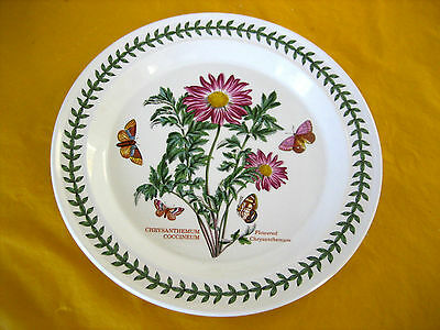PORTMEIRION BOTANIC GARDEN FLOWERED CHRYSANTHEMUM DINNER PLATEs 10.5""