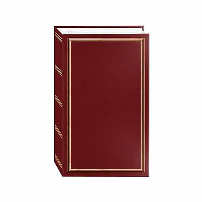 "3-ring pocket BURGUNDY album for 504 photos - 4""X6"" Burgundy Red"