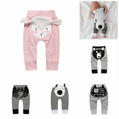 1pcs infant toddler Baby clothes boys girls cotton soft pants trousers animal