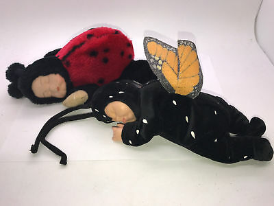 Anne Ann Geddes Baby Butterfly And Ladybug Doll