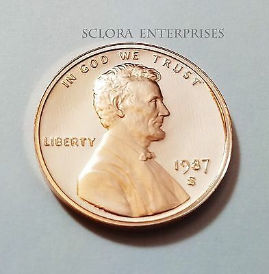 1987 S Lincoln Memorial *proof* Cent / Penny  **free Shipping**