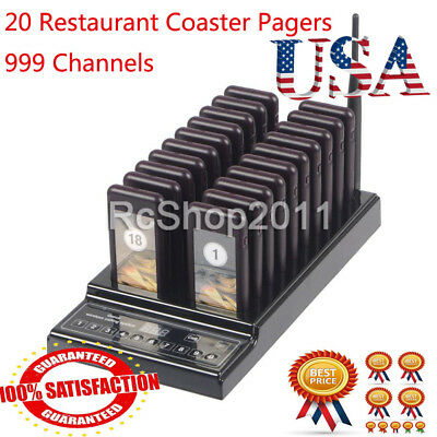 20Pcs Wireless Restaurant Coaster Pager Guest Call Paging Queuing Calling System
