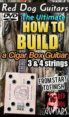 How To Build a Cigar Box Guitar 3 & 4 string use your own pickup / kit or neck