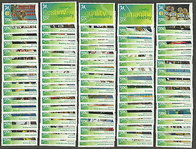 AUSTRALIA 2006 COMMONWEALTH GAMES GOLD MEDAL WINNERS Set of 84v + 3v Generic MNH