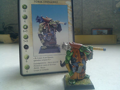 Confrontation-Orcs-Vorak The Infaillible-Orc Warrior Champion-Painted-Rackham
