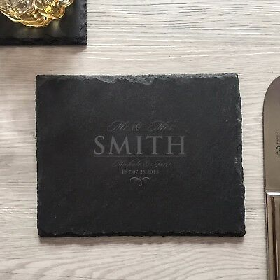 engraved custom personalized slate cutting board housewarming wedding gifts