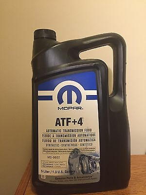 Mopar 68218058AC Automatic Transmission Fluid ATF+4, 5 Liters/1.3 Gallons