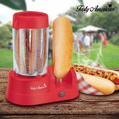 Tasty American - Appareil A Hot Dog - Rouge - Neuf - Idees Cadeaux