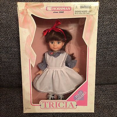 Tricia Doll - Blue & White Dress With Red Bow - Horsman 1997 - #86000 - NIB