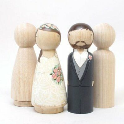 5, 10, 15,20, 50 Wooden Peg Doll Little People Dollhouse Craft DIY Painting