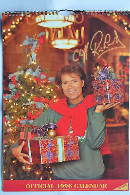 Cliff Richard 1996 Large Collectectable Official Calendar
