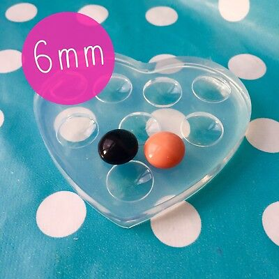 6mm SILICONE CABOCHON MOLD  - Resin Jewellery Making Mould Jewellery cabochons