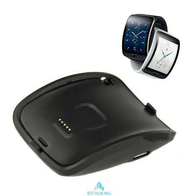 Black Charging Dock Charger Cradle For Samsung Galaxy Gear S Smart Watch SM-R750