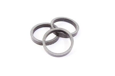 """3 Piece Carbon prism bmx Spacer 1 1/8 """" Inches 28, 6x5mm for Headset by Khe"""