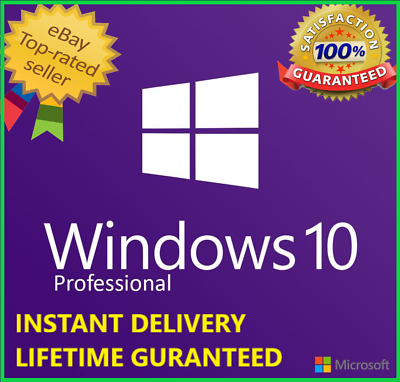 Windows 10 Pro edition 64/32 bit Genuine key Lifetime Activation license Promo!