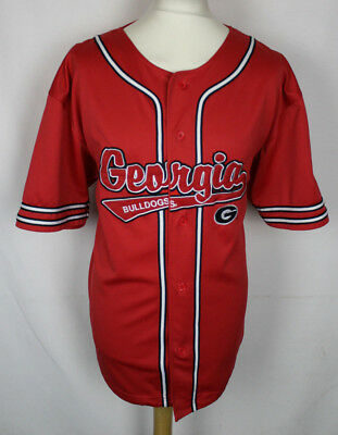 Georgia Bulldogs Baseball Jersey Mens Large Rare Pro Edge