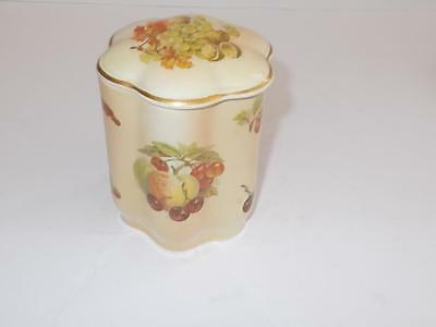 "Royal Worcester/Palissy Royal Collection ""Fruits"" Lidded Pot."