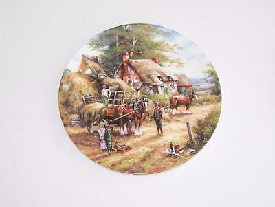 "Wedgwood Country Days Collectors Plate.""Making the Hayrick""."
