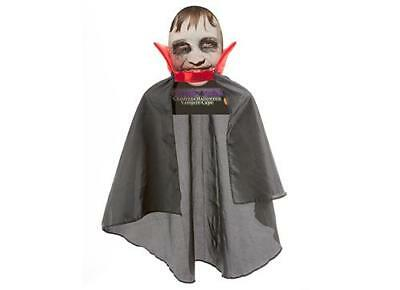 Halloween Fancy Dress - Black Vampire Cape with Red Collar - Kids Trick or Treat