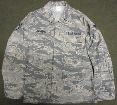 New Genuine Us Air Force Abu/tiger Stripe Ripstop Combat Jacket/shirt. 38 Long.