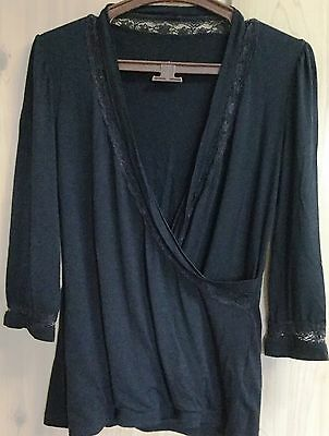 LOT of 2 WOMEN 3/4 SLEEVE  BLOUSES TOPS, size: 1
