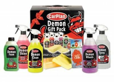 Carplan Demon Gift Pack - Gift Pack for Car / Vehicle Cleaning Liquid & Cloth
