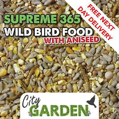 20kg Premium High Energy Wild Bird Food Seed Mix with Sunflower Hearts Mealworms