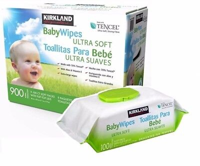Kirkland Signature Tencel Ultra Soft Baby Wipes 900 Extra Large Wet Wipes