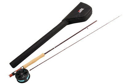 "Abu Garcia 2 Piece Graphite Diplomat Fly Combo Complete Kit 8'6"" 6/7Wt Trout New"