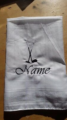 PERSONALISED HANDKERCHIEF  Name & Logo Gift / Christmas / Birthday (or plain)