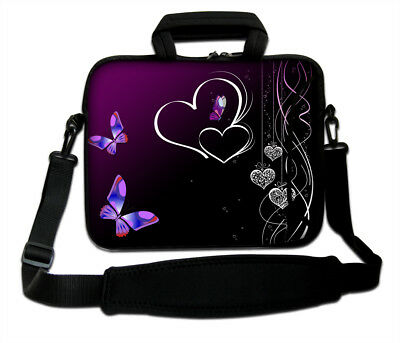 "17"" LAPTOP BAG WITH HANDLE & SHOULDER STRAP 4 ALL MAKES *FREE POST*Purple but2*"