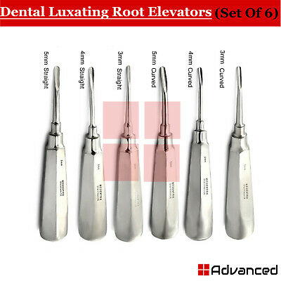 6 Pcs Dental Luxating Elevators Tooth Loosen Root Extracting PDL Extraction Kit