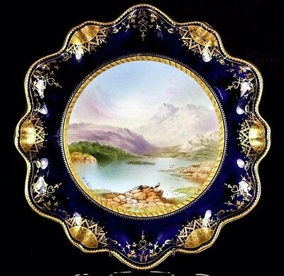Antique Aynsley Plate Blea Farm Byjoseph Birbeck C.1875+