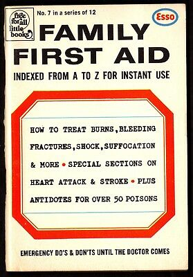 """Esso: FAMILY FIRST AID, """"Free For All Little Books"""",Emergengy Do's & Don'ts"""",#7"""