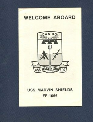 FF 1066 USS MARVIN SHIELDS WELCOME ABOARD PAMPHLET US Navy Ship Squadron Booklet