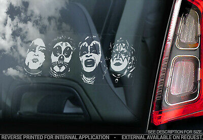 KISS - Car Window Sticker - Band Decal Rock Laptop Music Faces Sign - v01