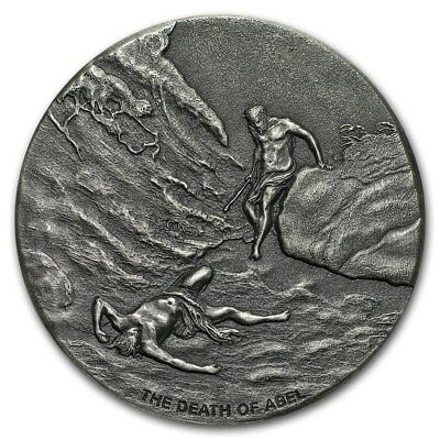 2017 Biblical Series The Death Of Abel 2 oz .999 Silver Antiqued Finish Coin