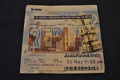 1993 FA Cup Final REPLAY Ticket Arsenal v Sheffield Wednesday Good Cond.