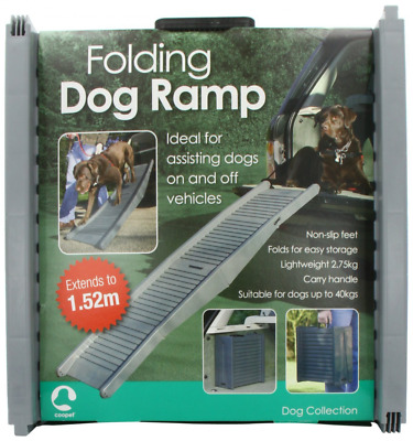 Folding Dog Ramp Car Van Travel Pet Portable Steps Assist Dogs On / Off Vehicle