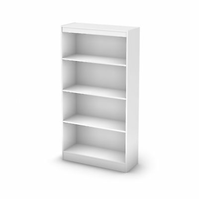 South Shore Axess Collection 4-Shelf Bookcase - Pure White 58-inch New