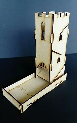 Medieval / Gothic Laser Cut Slot Together Dice Tower