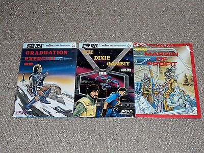 Lot of 3 FASA 1980s Star Trek RPG Modules Brand New The Dixie Gambit More