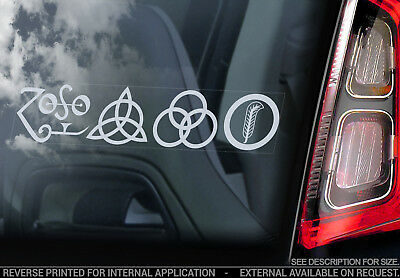Led Zeppelin - Car Window Sticker -Band Decal Laptop Rock Music Symbols Zoso V02
