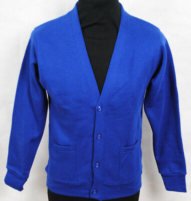 Royal Blue School Cardigan Boys Girls Uniform 3 - 12 Years Button Up Top