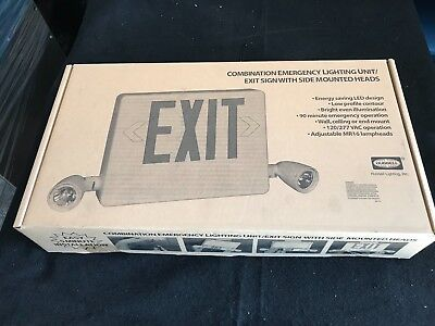 Hubbell Dual Lite Combo Led Emergency Exit Light HCXURW, NEW...Fast Shipping