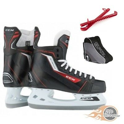 CCM JetSpeed 260 Ice Hockey Skates Package with Bag & Guards **Great Value**