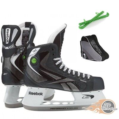 Reebok  9K Pump Hockey Ice Skates Package with Bag & Guards **Great Value**