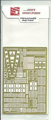 Toms Modelworks Akagi, 3 Deck Photo Etch Detail Set in 1/700 774 ST