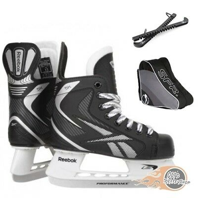 Reebok 5K Ice Skates Package with Bag & Blade Guard **Great Value**