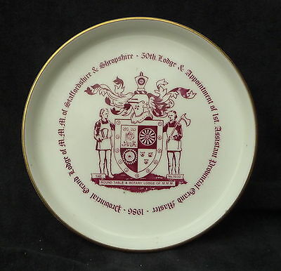 Vintage Goss China Commemorative Souvenir Rotary Club Round Table Mmm 1986